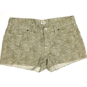Madewell cutoff spotted shorts